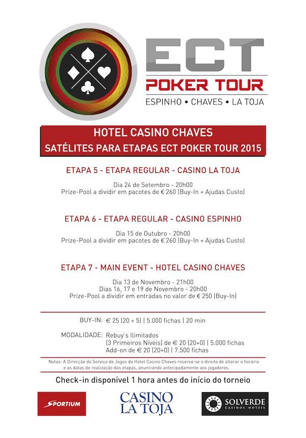 Satélites Etapa 5 ECT Poker Tour - 22,23 e 24 Setembro nos Casinos de Espinho e Chaves 101