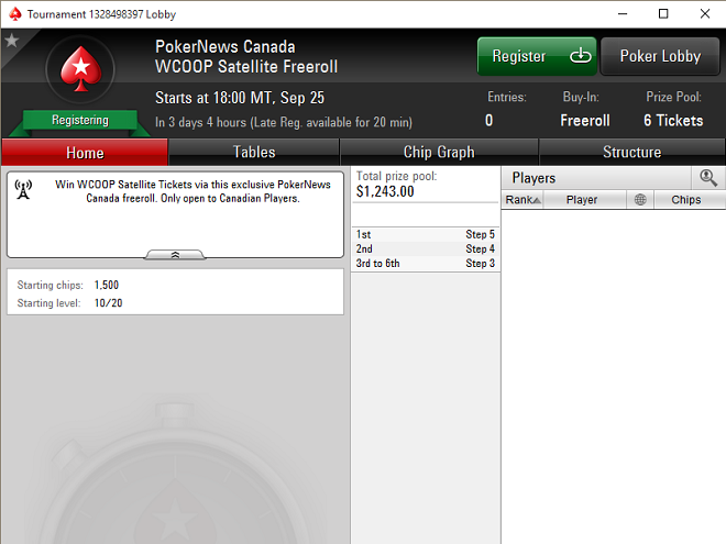 Canadians Only: Play the WCOOP Main Event for FREE! (Password Inside) 101