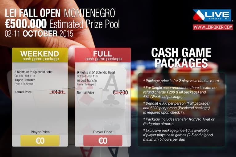 Lei Fall Open Poker Festival sa €500,000 GTD od 2. do 11. Oktobra u Crnoj Gori 103