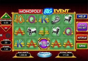 Monopoly Big Event free online slot