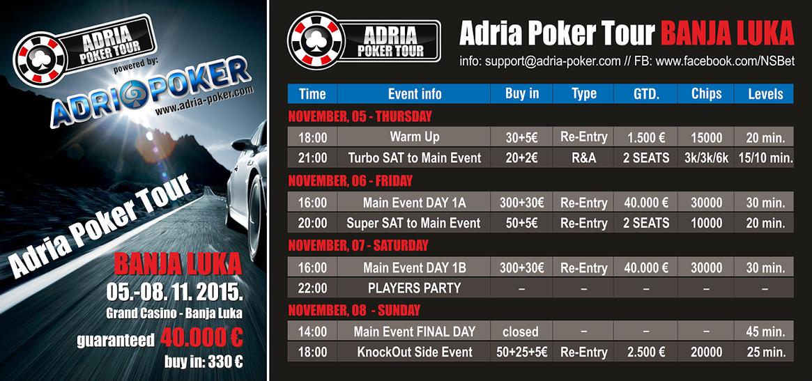 Adria Poker Tour od 5. do 8. Novembra u Banja Luci 101