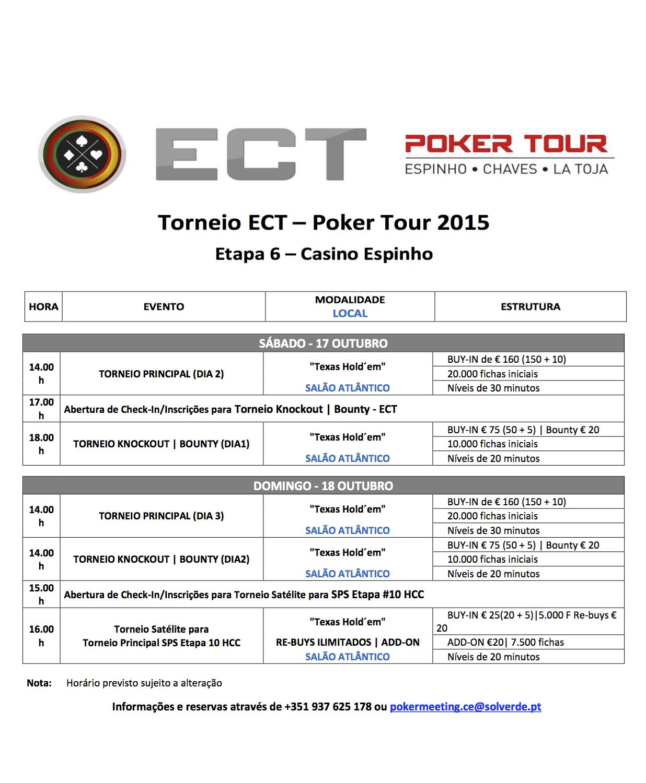 Armando Ribeiro Lidera Dia 1 Etapa 6 ECT Poker Tour 101