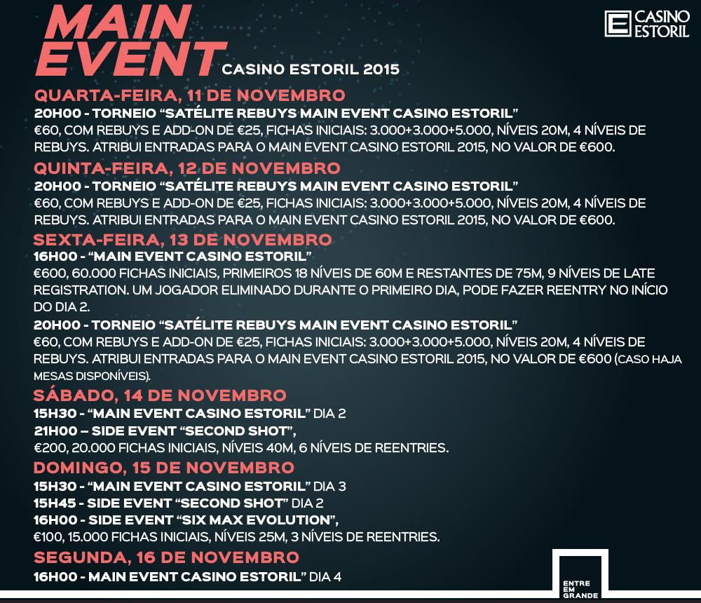 Satélites e Programa Main Event Casino Estoril 2015 102