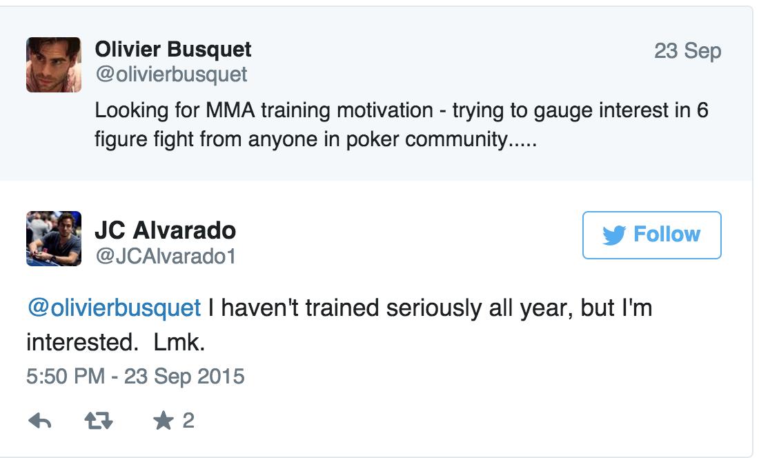 JC Alvarado Talks About Accepting Olivier Busquet's MMA Challenge 101