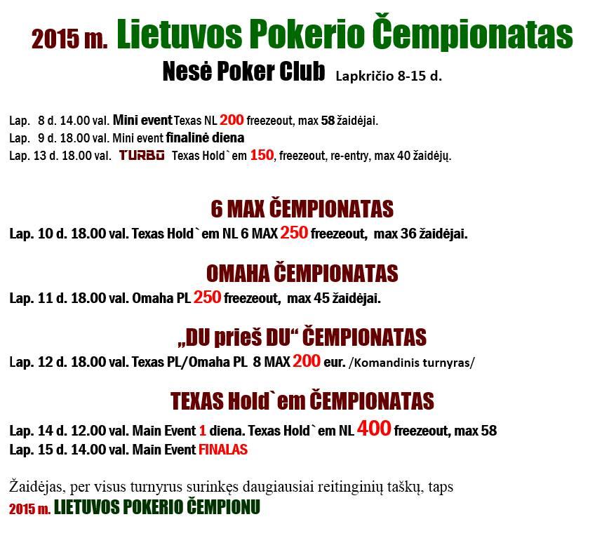 Lietuvos Pokerio čempionato pradžia - jau šį sekmadienį 102