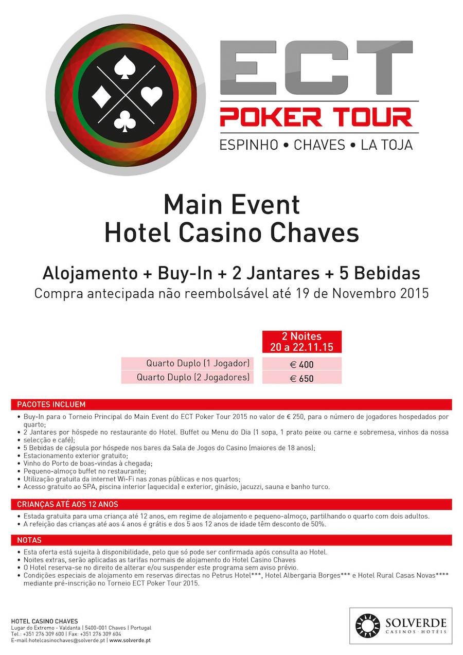 Satélites e Programa Main Event ECT Poker Tour no Hotel Casino Chaves 103