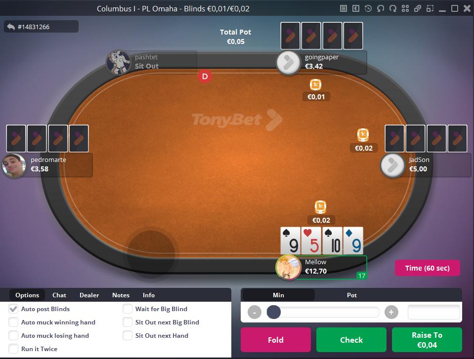 """""""TonyBet Poker"""" pristato """"NL Hold'em"""" ir """"PL Omaha"""" grynųjų pinigų žaidimus... 101"""