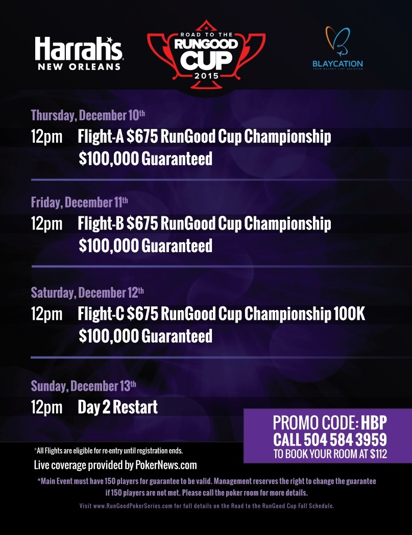 Just One Week Until the Road to RunGood Cup New Orleans Championship 102
