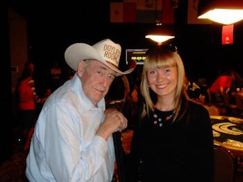 Anna Yamshchikova and Doyle Brunson in Las Vegas (Source: Facebook)