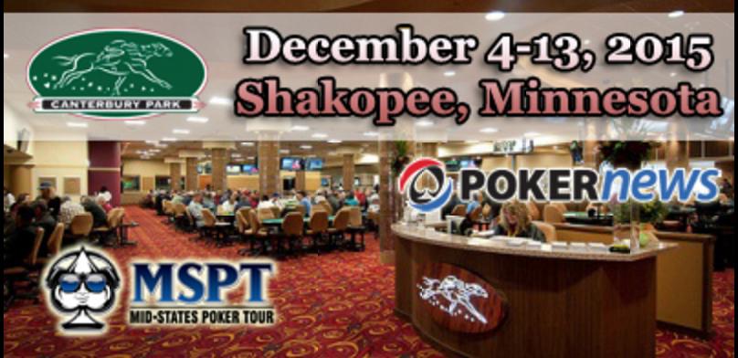 Last Stop of MSPT Season 6 Begins Friday; Canterbury Park Main Event Dec. 11-13 101