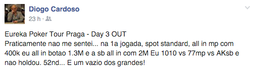 Lusos ITM na Praga Poker Cup e Main Event Eureka Poker Tour 101