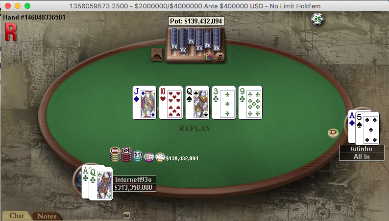 Heads-up Brasileiro no Sunday Million .000.000 Garantidos 101