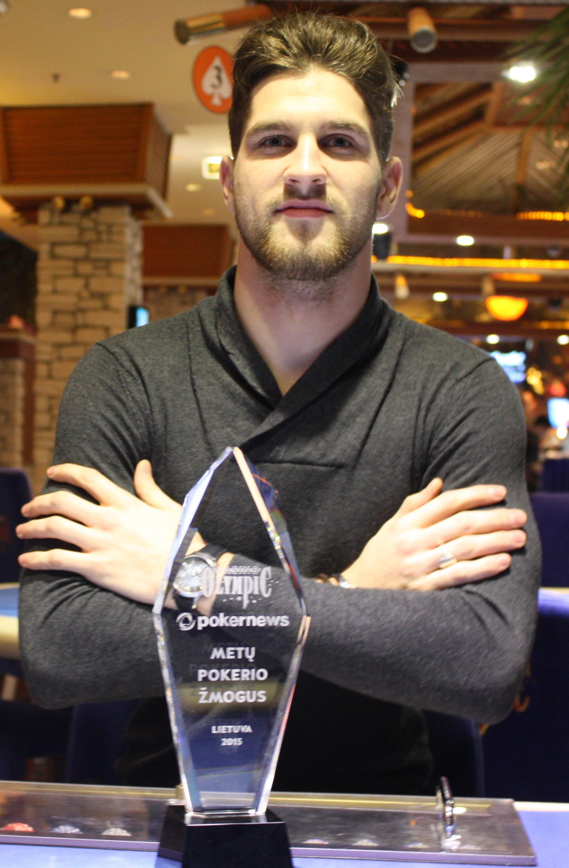 """""""PokerNews"""" ir """"Olympic Poker Club"""" apdovanojo Matą Cimbolą (interviu) 101"""