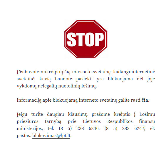 Lietuvoje užblokuotas pirmasis lošimų operatorius, kitas bus Unibet? 101