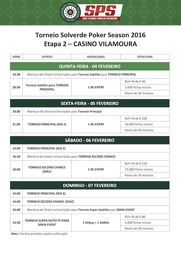Solverde Poker Season 2016 - Calendário Etapa #2 & Satélite 101
