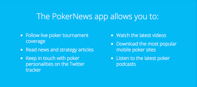 PokerNews Lança Nova App Móvel para Dispositivos Android e Apple 101
