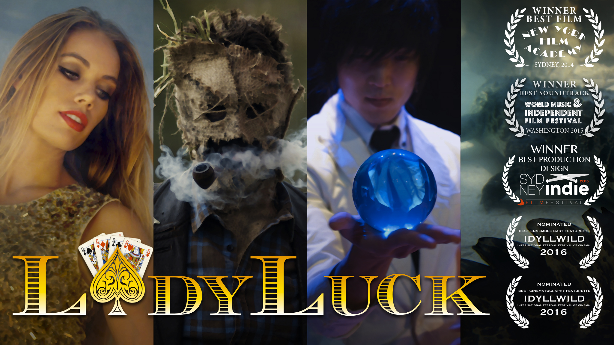 Ren Thackham's Short Film Lady Luck is Poker Meets Alice in Wonderland 101