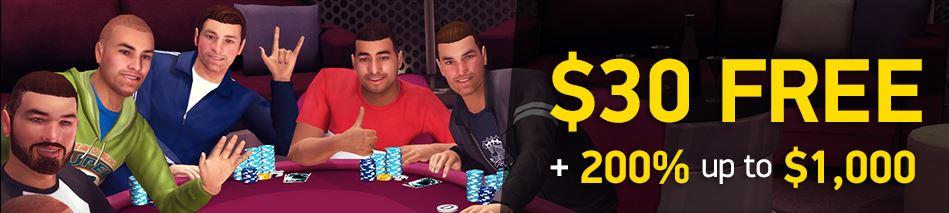 Uzmite BESPLATNIH 30$ za igru na PKR Pokeru