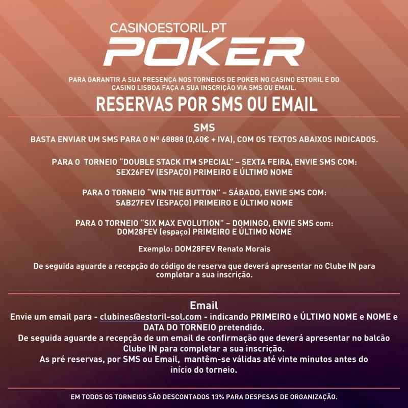Double Stack ITM Special,Win the Button e 6-Max Evolution no Casino Estoril 101