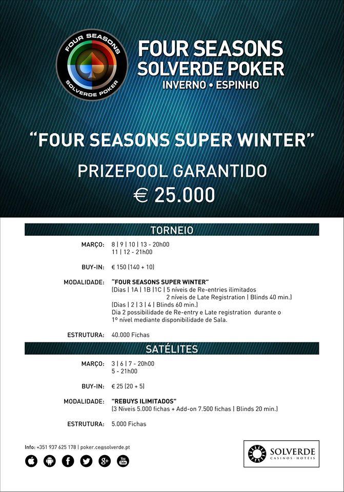 Four Season Super Winter:  Calendário e Satélites no Casino de Espinho 101