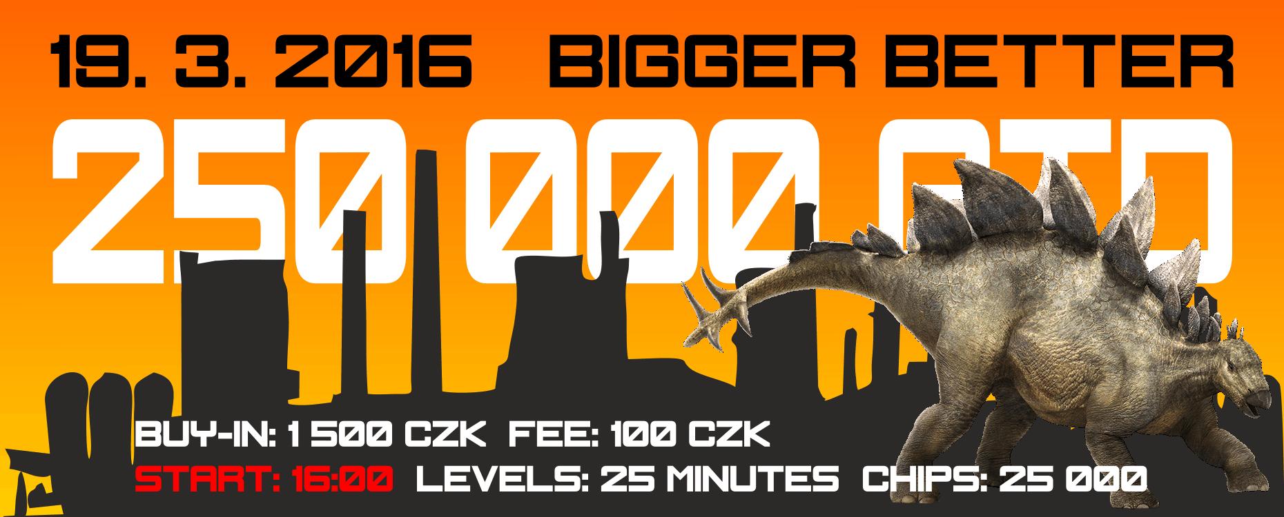 BIGGER BETTER v Casinu Kartáč. Získejte vstupenku v hodnotě 1.600 CZK 101