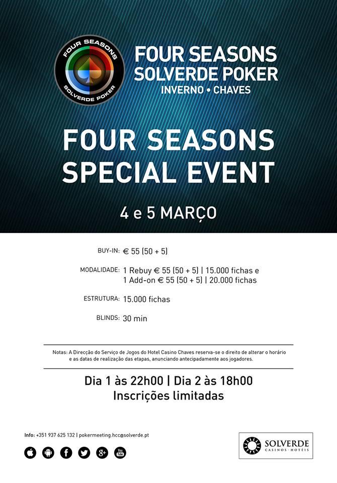 Four Seasons Special Event Hoje e Amanhã no Hotel Casino Chaves 101