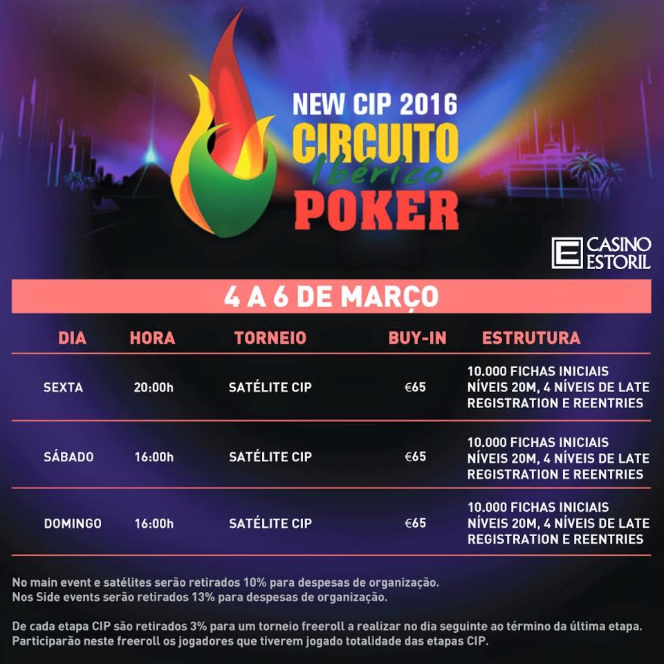 Fim de Semana de Satélites CIP 2016 no Casino Estoril 101