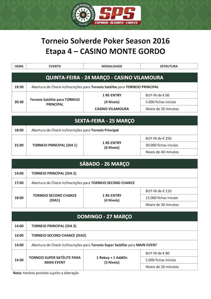 Solverde Poker Season 2016: Etapa #4 Arranca Hoje em Monte Gordo (21h) 101