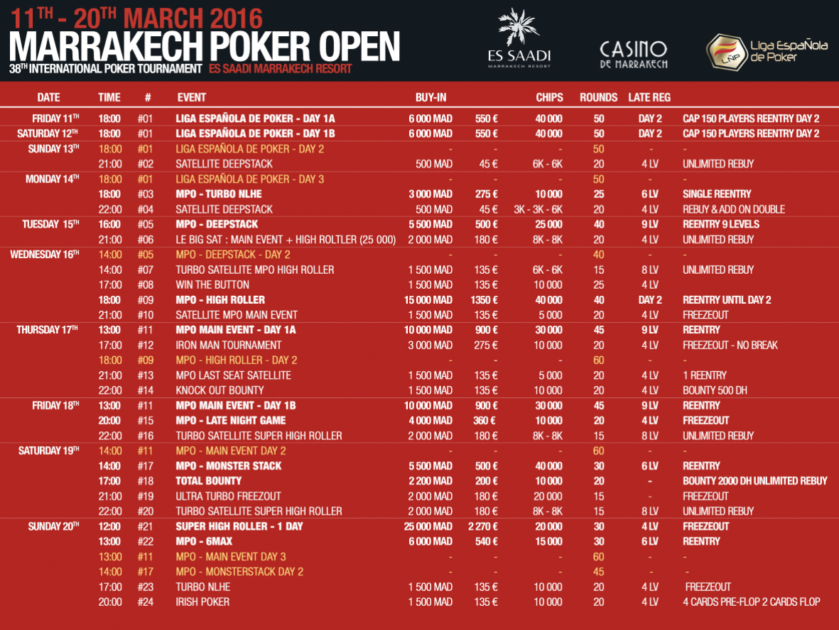 PokerNews To Cover the Marrakech Poker Open Main Event March 17-20 101