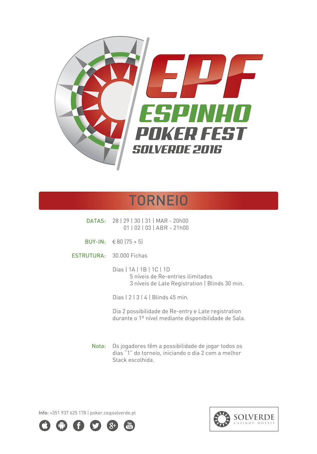 Espinho Poker Fest de 28 de Março a 3 de Abril no Casino de Espinho 101
