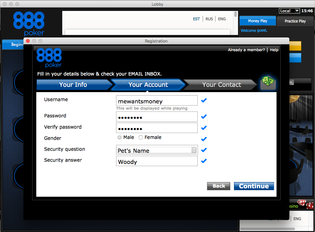 888poker account