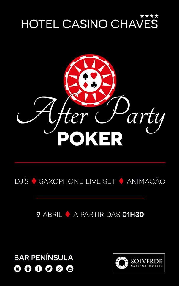 Poker After Party Dia 9 de Abril no Casino Chaves (Entrada Livre) 101