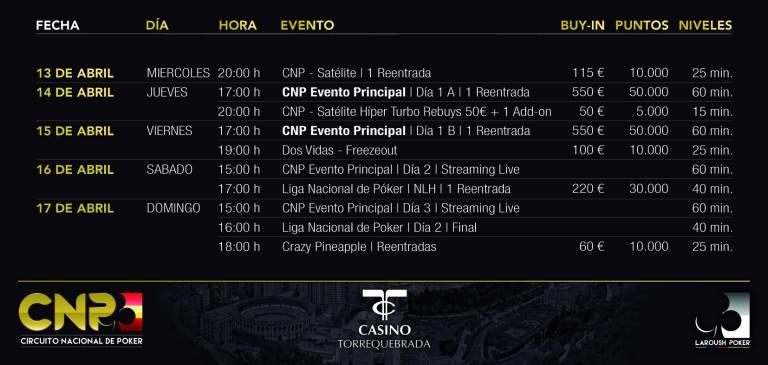 El Circuito Nacional de Poker desembarca en el Casino de Torrequebrada 101