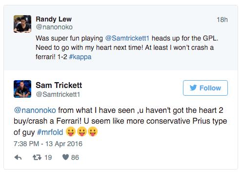 GPL: Sam Trickett, Alex Luneau e Troyanovskiy Venceram em Heads-Up 101