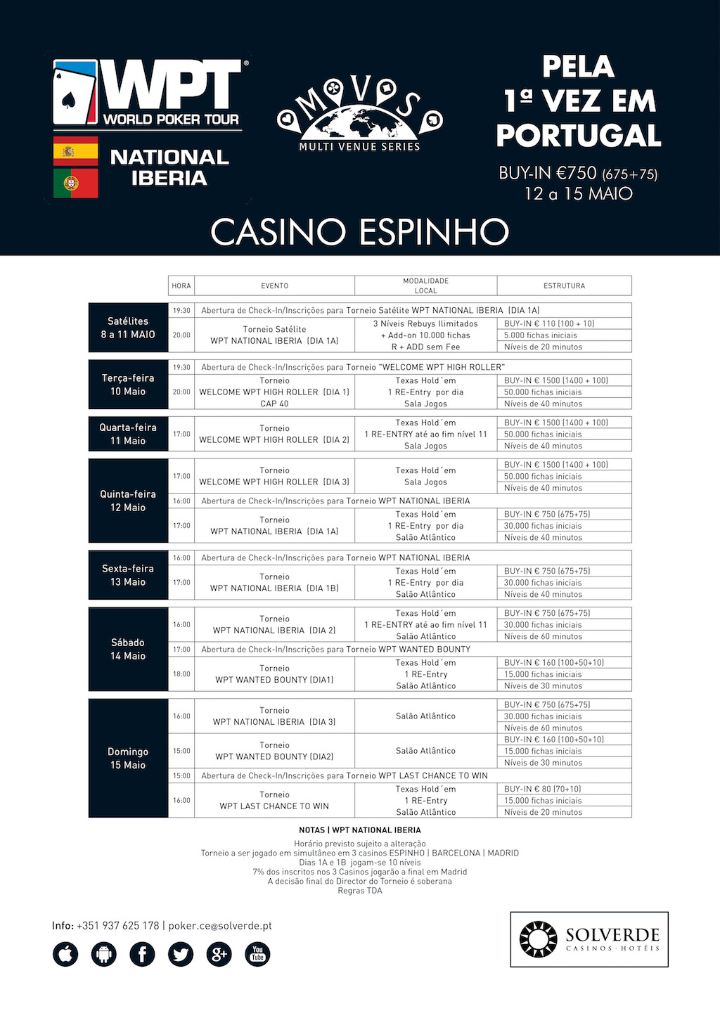 Dia 1A Main Event WPT National Iberia Arranca às 17:00 no Casino de Espinho 101