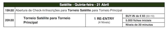 Hoje às 20:30 Satélite Etapa #6 Solverde Poker Season em Vilamoura 101