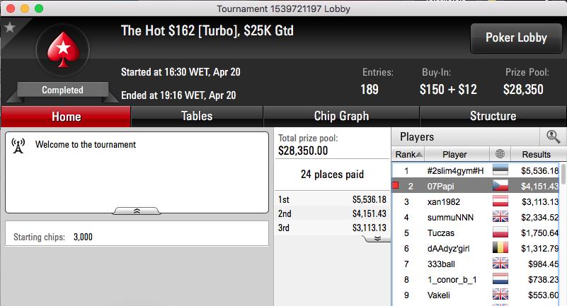 CLEMENTEBOMBA69 3º no Winning Poker OSS VI #33 (k) & Mais 101
