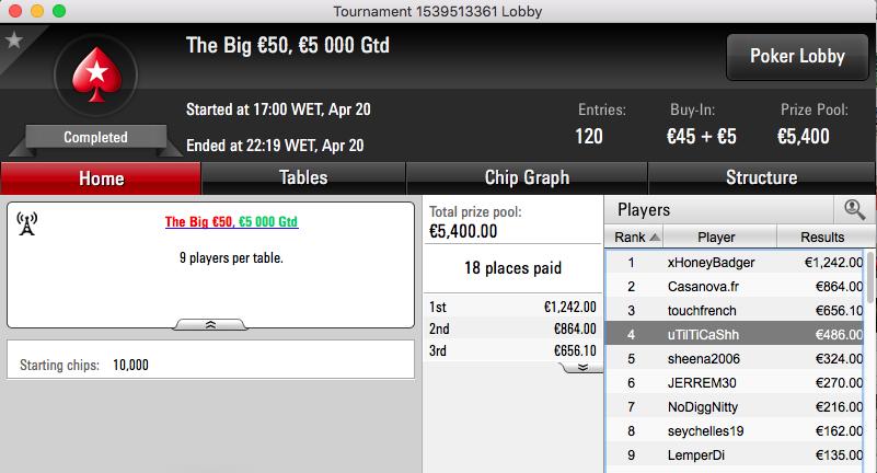 CLEMENTEBOMBA69 3º no Winning Poker OSS VI #33 (k) & Mais 104