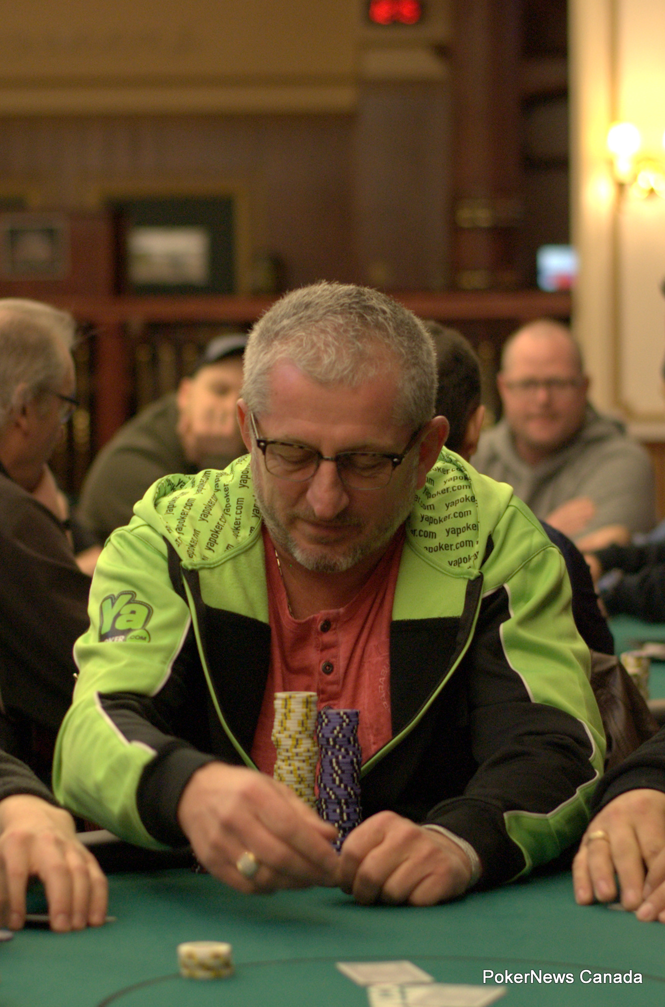 Ron Lauzon finished sixth in the PlayNow Poker Championship Main Event.