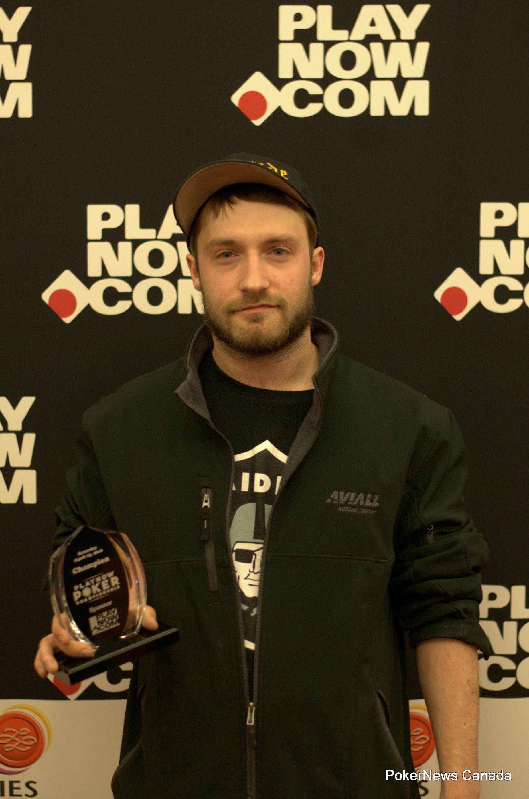 Jorday Feasey won the $400 PlayNow.com No Limit Hold'em Tournament.