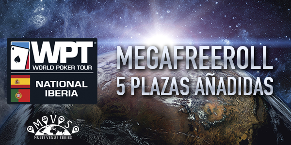 Juega un Mega Freeroll para el World Poker Tour National Iberia con 5 entradas garantizadas 101