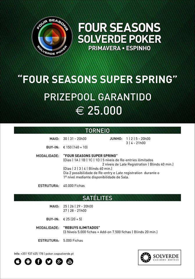 David Santos Comandou Dia 1C do Four Seasons Super Spring €25.000 GTD 101