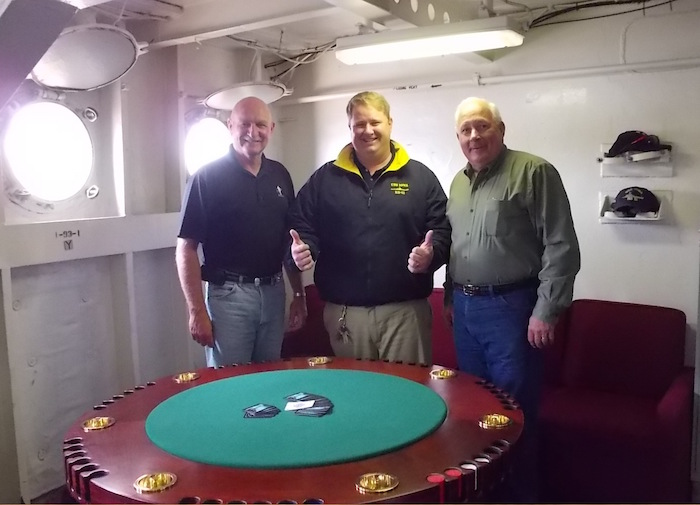 Bluffing in Style: Exquisite President Truman Poker Table Replica Featured in Charity Auction 101