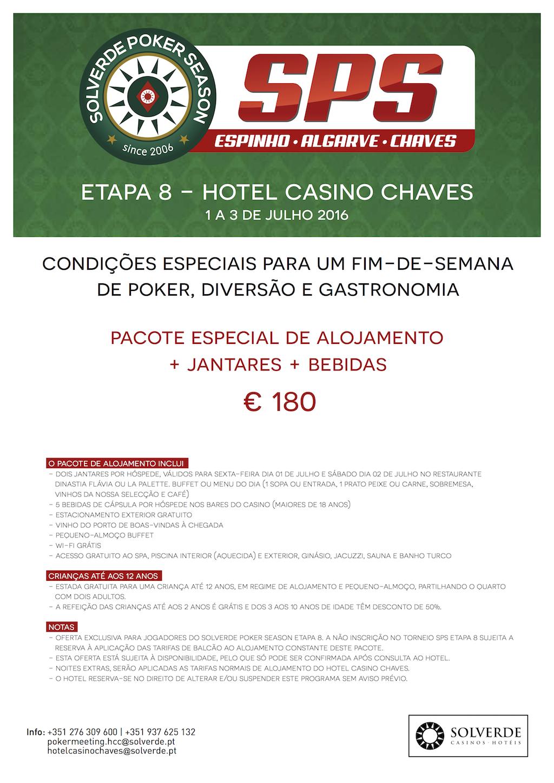 Etapa 8 Solverde Poker Season 2016: Satélites e Packs Alojamento 102