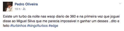 Pedro Oliveira Faz Chop HU no Daily Deepstack 5 (.000) 101