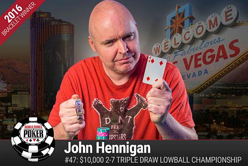 WSOP 2016: Hellmuth ostal praznih rok, do zapestnic Wolansky, Hennigan in Charania 101