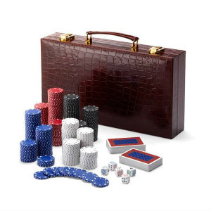 Aspinal of London Leather Poker Set