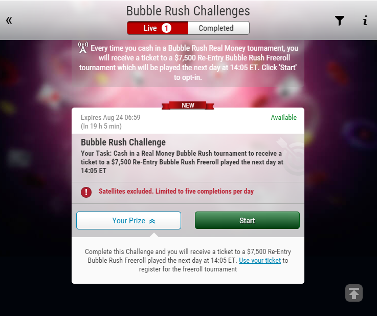 Нови Bubble Rush Tтурнири дебютираха в PokerStars 101