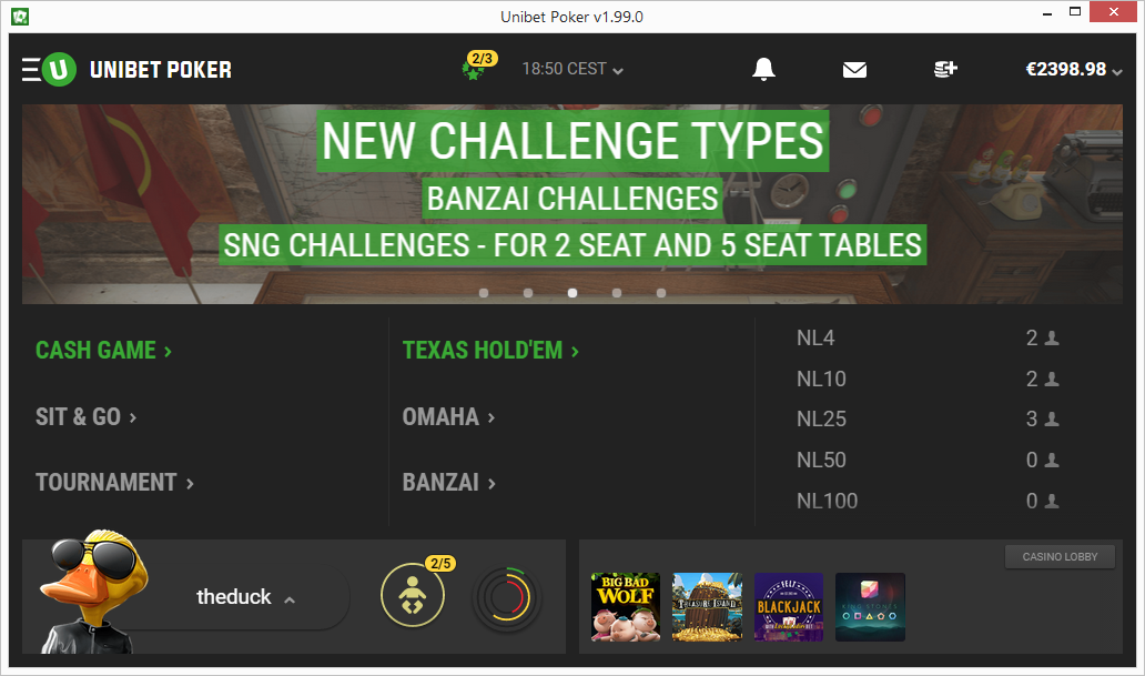 Unibet Starts Beta Testing Version 2.0 of Their Standalone Poker Client 103