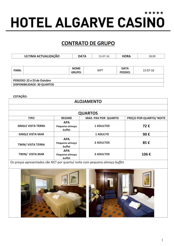 WPT National Iberia - Pacotes Especiais de Alojamento em Vilamoura/Portimão 103